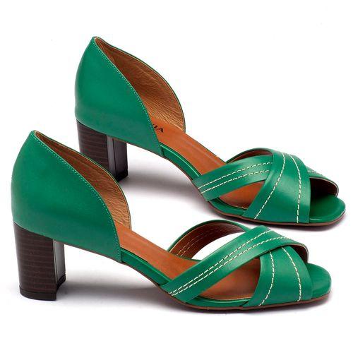 Laranja_Lima_Shoes_Sapatos_Femininos_Sandalia_Laranja_Lima_Shoes_Classic_Salto_de_65_cm_em_Couro_Verde_-_Codigo_-_3446_1