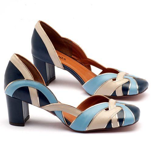 Laranja_Lima_Shoes_Sapatos_Femininos_Scarpin_Salto_Medio_de_6_cm_em_Material_Misto_Bicolor_-_Codigo_-_3477_1