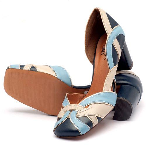 Laranja_Lima_Shoes_Sapatos_Femininos_Scarpin_Salto_Medio_de_6_cm_em_Material_Misto_Bicolor_-_Codigo_-_3477_2
