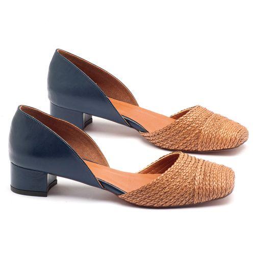 Laranja_Lima_Shoes_Sapatos_Femininos_Scarpin_Salto_Baixo_de_3_cm_em_Material_Misto_Marinho_-_Codigo_-_3480_1