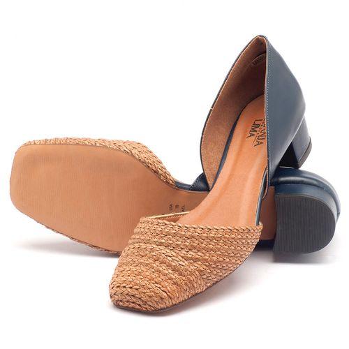 Laranja_Lima_Shoes_Sapatos_Femininos_Scarpin_Salto_Baixo_de_3_cm_em_Material_Misto_Marinho_-_Codigo_-_3480_2