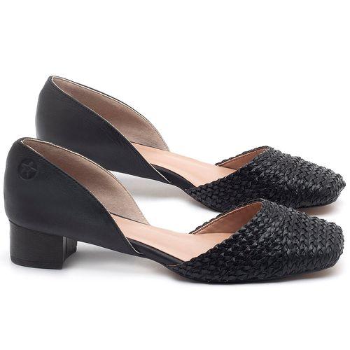 Laranja_Lima_Shoes_Sapatos_Femininos_Scarpin_Salto_Baixo_de_3_cm_em_Material_Misto_Preto_-_Codigo_-_3480_1