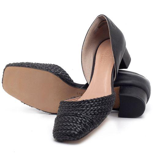 Laranja_Lima_Shoes_Sapatos_Femininos_Scarpin_Salto_Baixo_de_3_cm_em_Material_Misto_Preto_-_Codigo_-_3480_2