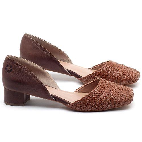 Laranja_Lima_Shoes_Sapatos_Femininos_Scarpin_Salto_Baixo_de_3_cm_em_Material_Misto_Caramelo_-_Codigo_-_3480_1
