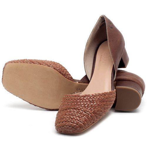 Laranja_Lima_Shoes_Sapatos_Femininos_Scarpin_Salto_Baixo_de_3_cm_em_Material_Misto_Caramelo_-_Codigo_-_3480_2