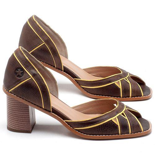 Laranja_Lima_Shoes_Sapatos_Femininos_Sandalia_Laranja_Lima_Shoes_Classic_Salto_de_6_cm_em_Material_Misto_Cafe_-_Codigo_-_3489_1