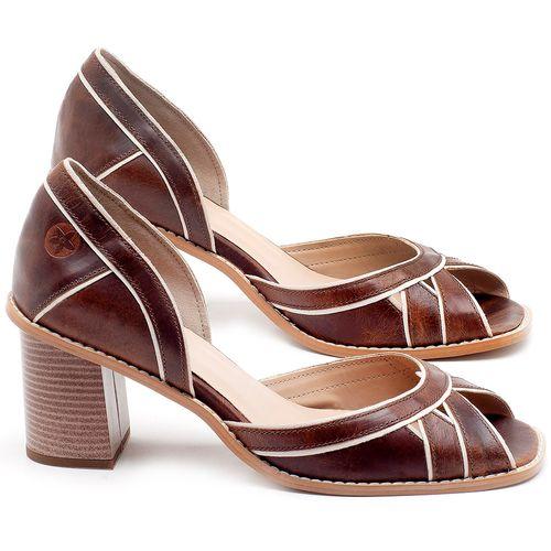 Laranja_Lima_Shoes_Sapatos_Femininos_Sandalia_Laranja_Lima_Shoes_Classic_Salto_de_6_cm_em_Material_Misto_Marrom_-_Codigo_-_3489_1