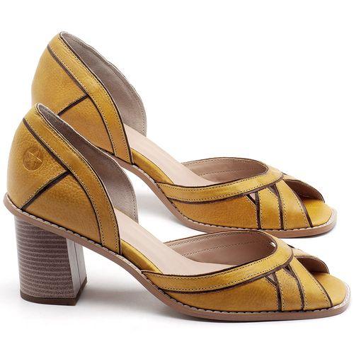 Laranja_Lima_Shoes_Sapatos_Femininos_Sandalia_Laranja_Lima_Shoes_Classic_Salto_de_6_cm_em_Material_Misto_Amarelo_-_Codigo_-_3489_1