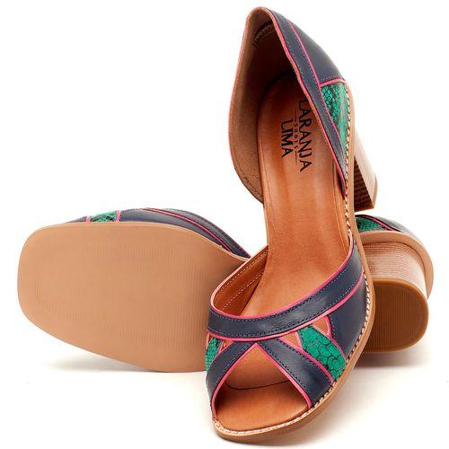 Laranja_Lima_Shoes_Sapatos_Femininos_Sandalia_Laranja_Lima_Shoes_Classic_Salto_de_6_cm_em_Material_Misto_Bicolor_-_Codigo_-_3489_2
