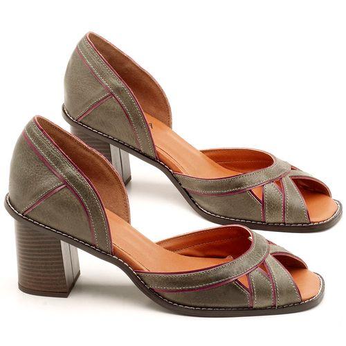 Laranja_Lima_Shoes_Sapatos_Femininos_Sandalia_Laranja_Lima_Shoes_Classic_Salto_de_6_cm_em_Material_Misto_Musgo_-_Codigo_-_3489_1