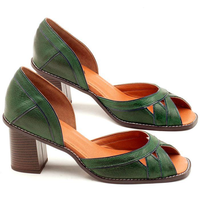 Laranja_Lima_Shoes_Sapatos_Femininos_Sandalia_Laranja_Lima_Shoes_Classic_Salto_de_6_cm_em_Material_Misto_Verde_-_Codigo_-_3489_1