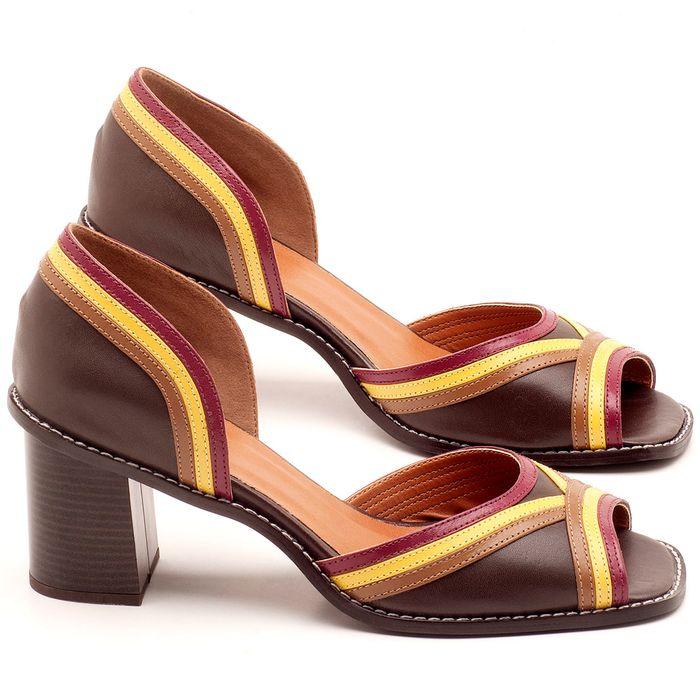 Laranja_Lima_Shoes_Sapatos_Femininos_Sandalia_Laranja_Lima_Shoes_Classic_Salto_de_6_cm_em_Material_Misto_Cafe_-_Codigo_-_3490_1