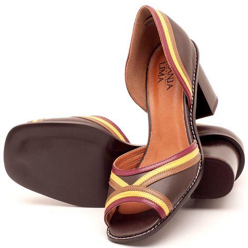 Laranja_Lima_Shoes_Sapatos_Femininos_Sandalia_Laranja_Lima_Shoes_Classic_Salto_de_6_cm_em_Material_Misto_Cafe_-_Codigo_-_3490_2