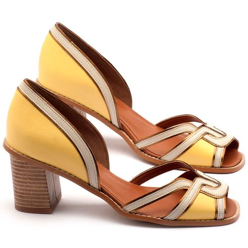 Laranja_Lima_Shoes_Sapatos_Femininos_Sandalia_Laranja_Lima_Shoes_Classic_Salto_de_7_cm_em_Material_Misto_Amarelo_-_Codigo_-_3491_1