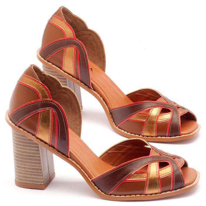 Laranja_Lima_Shoes_Sapatos_Femininos_Sandalia_Laranja_Lima_Shoes_Classic_Salto_de_6_cm_em_Partes_em_Couro_e_Partes_em_Sintetico_Multicolor_-_Codigo_-_3514_1