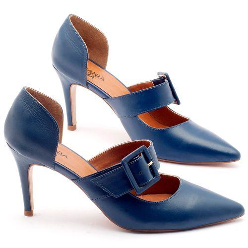 Laranja_Lima_Shoes_Sapatos_Femininos_Scarpin_Salto_Alto_de_9_cm_em_Couro_Azul_-_Codigo_-_3532_3