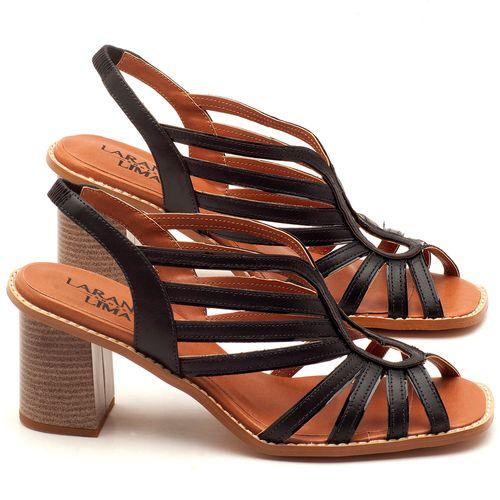 Laranja_Lima_Shoes_Sapatos_Femininos_Sandalia_Laranja_Lima_Shoes_Classic_Salto_de_6_cm_em_Couro_Preto_-_Codigo_-_3538_1