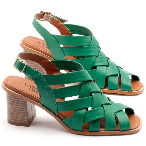 Laranja_Lima_Shoes_Sapatos_Femininos_Sandalia_Laranja_Lima_Shoes_Classic_Salto_de_6_cm_em_Couro_Verde_-_Codigo_-_3544_1