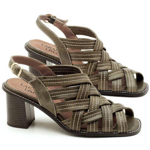 Laranja_Lima_Shoes_Sapatos_Femininos_Sandalia_Laranja_Lima_Shoes_Classic_Salto_de_6_cm_em_Couro_Musgo_-_Codigo_-_3544_1
