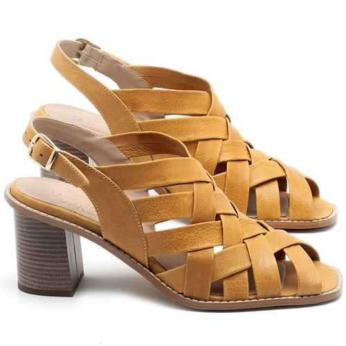 Laranja_Lima_Shoes_Sapatos_Femininos_Sandalia_Laranja_Lima_Shoes_Classic_Salto_de_6_cm_em_Couro_Amarelo_-_Codigo_-_3544_1