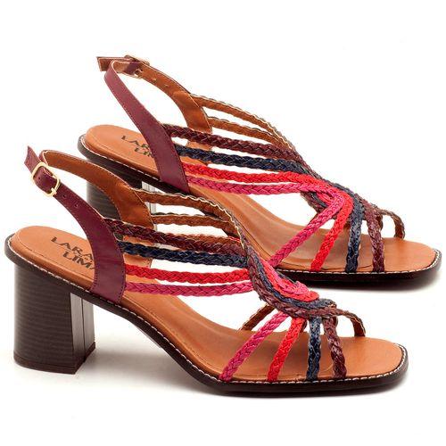 Laranja_Lima_Shoes_Sapatos_Femininos_Sandalia_Laranja_Lima_Shoes_Classic_Salto_de_6_cm_em_Partes_em_Couro_e_Partes_em_Sintetico_Multicolor_-_Codigo_-_3547_1