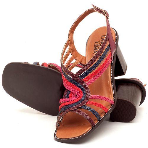 Laranja_Lima_Shoes_Sapatos_Femininos_Sandalia_Laranja_Lima_Shoes_Classic_Salto_de_6_cm_em_Partes_em_Couro_e_Partes_em_Sintetico_Multicolor_-_Codigo_-_3547_2