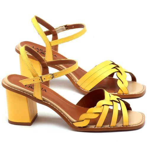 Laranja_Lima_Shoes_Sapatos_Femininos_Sandalia_Laranja_Lima_Shoes_Classic_Salto_de_6_cm_em_Couro_Amarelo_-_Codigo_-_3555_1