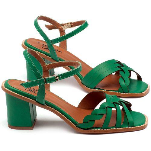 Laranja_Lima_Shoes_Sapatos_Femininos_Sandalia_Laranja_Lima_Shoes_Classic_Salto_de_6_cm_em_Couro_Verde_-_Codigo_-_3555_1
