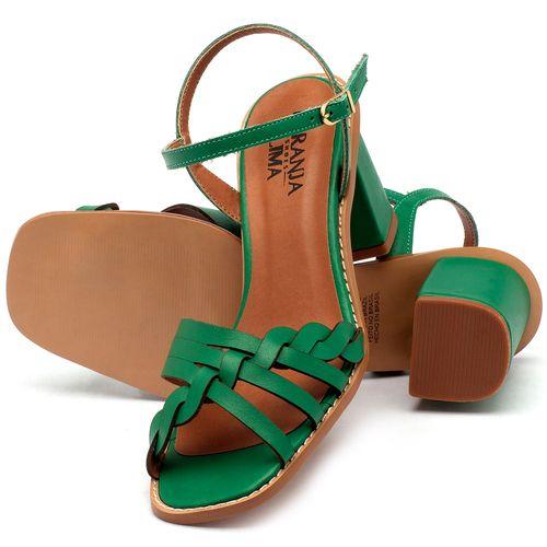 Laranja_Lima_Shoes_Sapatos_Femininos_Sandalia_Laranja_Lima_Shoes_Classic_Salto_de_6_cm_em_Couro_Verde_-_Codigo_-_3555_2