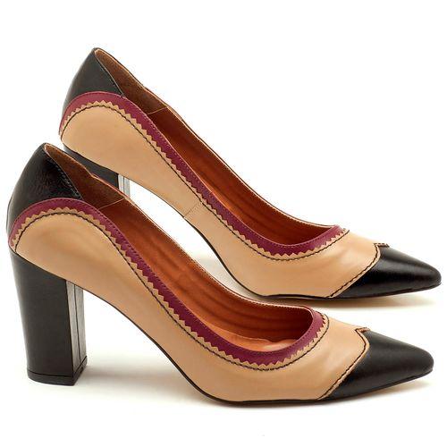 Laranja_Lima_Shoes_Sapatos_Femininos_Scarpin_Salto_Alto_de_9_cm_em_Couro_Bicolor_-_Codigo_-_3565_1
