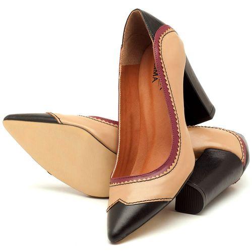 Laranja_Lima_Shoes_Sapatos_Femininos_Scarpin_Salto_Alto_de_9_cm_em_Couro_Bicolor_-_Codigo_-_3565_2