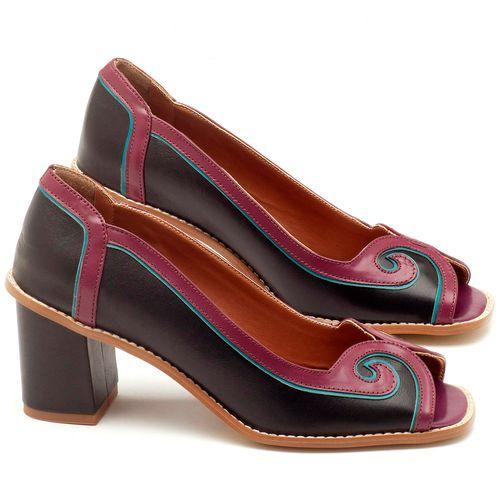 Laranja_Lima_Shoes_Sapatos_Femininos_Peep_Toe_Laranja_Lima_Shoes_Salto_de_6_cm_em_Couro_Bicolor_-_Codigo_-_3578_1