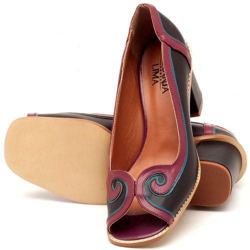 Laranja_Lima_Shoes_Sapatos_Femininos_Peep_Toe_Laranja_Lima_Shoes_Salto_de_6_cm_em_Couro_Bicolor_-_Codigo_-_3578_2