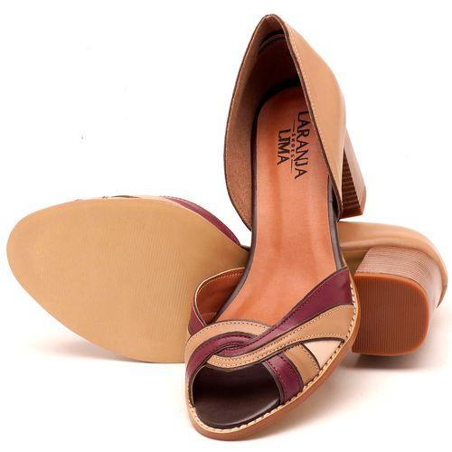 Laranja_Lima_Shoes_Sapatos_Femininos_Sandalia_Laranja_Lima_Shoes_Classic_Salto_de_6_cm_em_Couro_Bicolor_-_Codigo_-_3580_2