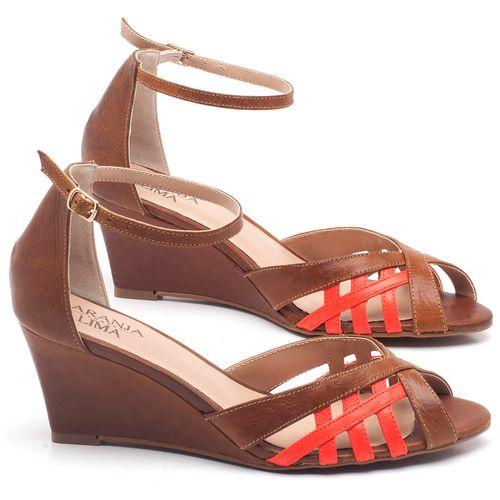 Laranja_Lima_Shoes_Sapatos_Femininos_Sandalia_Laranja_Lima_Shoes_Classic_Salto_de_6_cm_em_Couro_Bicolor_-_Codigo_-_3643_1
