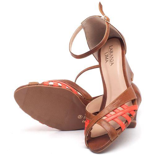 Laranja_Lima_Shoes_Sapatos_Femininos_Sandalia_Laranja_Lima_Shoes_Classic_Salto_de_6_cm_em_Couro_Bicolor_-_Codigo_-_3643_2