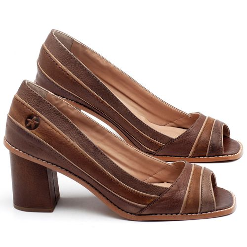 Laranja_Lima_Shoes_Sapatos_Femininos_Peep_Toe_Laranja_Lima_Shoes_Salto_de_6_cm_em_Couro_Bicolor_-_Codigo_-_3649_1