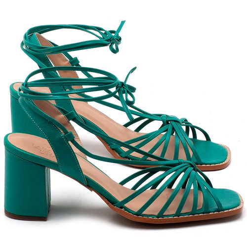 Laranja_Lima_Shoes_Sapatos_Femininos_Sandalia_Laranja_Lima_Shoes_Classic_Salto_de_6_cm_em_Couro_Verde_-_Codigo_-_3653_1