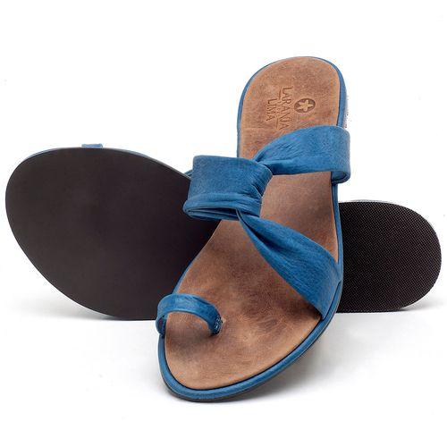 Laranja_Lima_Shoes_Sapatos_Femininos_Sandalia_Rasteira_Flat_em_Couro_Azul_-_Codigo_-_3655_2