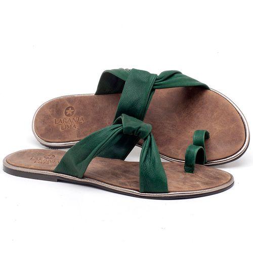 Laranja_Lima_Shoes_Sapatos_Femininos_Sandalia_Rasteira_Flat_em_Couro_Verde_-_Codigo_-_3655_1