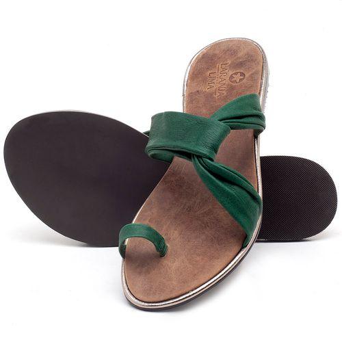 Laranja_Lima_Shoes_Sapatos_Femininos_Sandalia_Rasteira_Flat_em_Couro_Verde_-_Codigo_-_3655_2