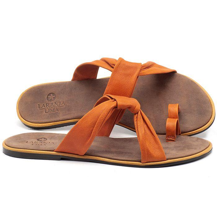 Laranja_Lima_Shoes_Sapatos_Femininos_Sandalia_Rasteira_Flat_em_Couro_Laranja_-_Codigo_-_3655_1