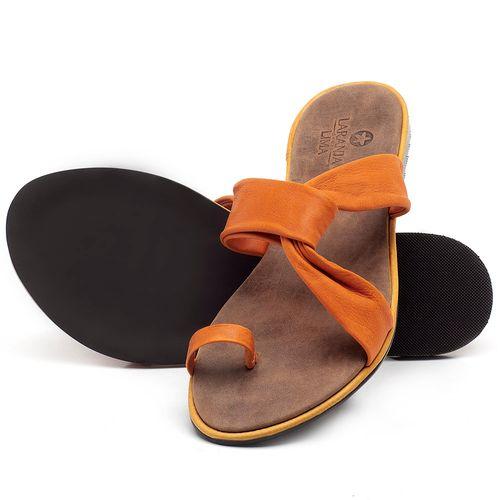 Laranja_Lima_Shoes_Sapatos_Femininos_Sandalia_Rasteira_Flat_em_Couro_Laranja_-_Codigo_-_3655_2
