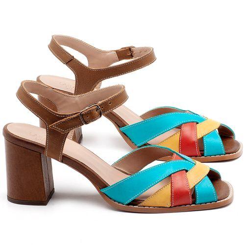 Laranja_Lima_Shoes_Sapatos_Femininos_Sandalia_Laranja_Lima_Shoes_Classic_Salto_de_6_cm_em_Couro_Multicolor_-_Codigo_-_3667_1