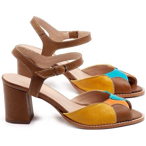 Laranja_Lima_Shoes_Sapatos_Femininos_Sandalia_Laranja_Lima_Shoes_Classic_Salto_de_6_cm_em_Couro_Multicolor_-_Codigo_-_3668_1