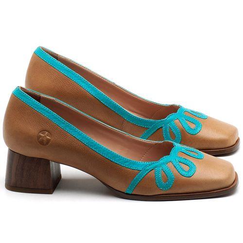 Laranja_Lima_Shoes_Sapatos_Femininos_Scarpin_Salto_Baixo_de_4_cm_em_Couro_Bicolor_-_Codigo_-_3678_1