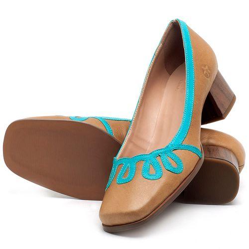 Laranja_Lima_Shoes_Sapatos_Femininos_Scarpin_Salto_Baixo_de_4_cm_em_Couro_Bicolor_-_Codigo_-_3678_2