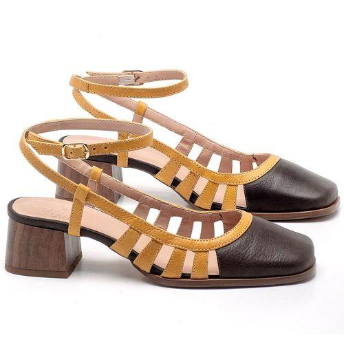Laranja_Lima_Shoes_Sapatos_Femininos_Scarpin_Salto_Baixo_de_4_cm_em_Couro_Bicolor_-_Codigo_-_3680_1