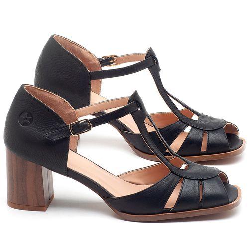 Laranja_Lima_Shoes_Sapatos_Femininos_Sandalia_Laranja_Lima_Shoes_Classic_Salto_de_8_cm_em_Couro_Preto_-_Codigo_-_3689_1