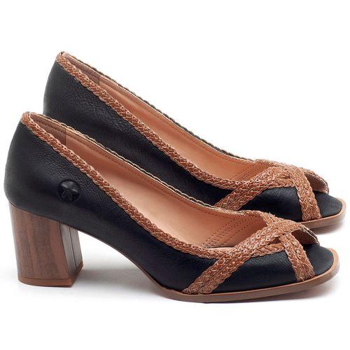 Laranja_Lima_Shoes_Sapatos_Femininos_Peep_Toe_Laranja_Lima_Shoes_Salto_de_5_cm_em_Couro_Preto_-_Codigo_-_3695_1